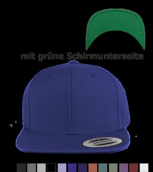 Snapback Classic mit grüner Schirmunterseite