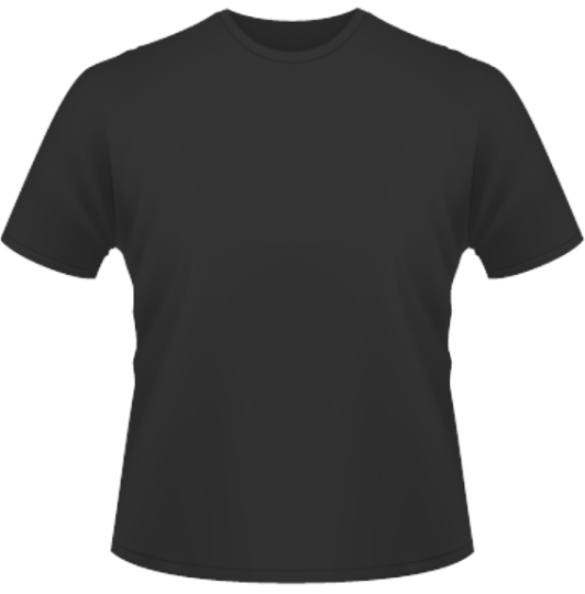 Männer-T-Shirt Standard schwarz   L
