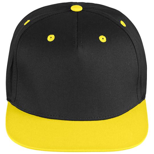 Snapback schwarz/gelb   uni